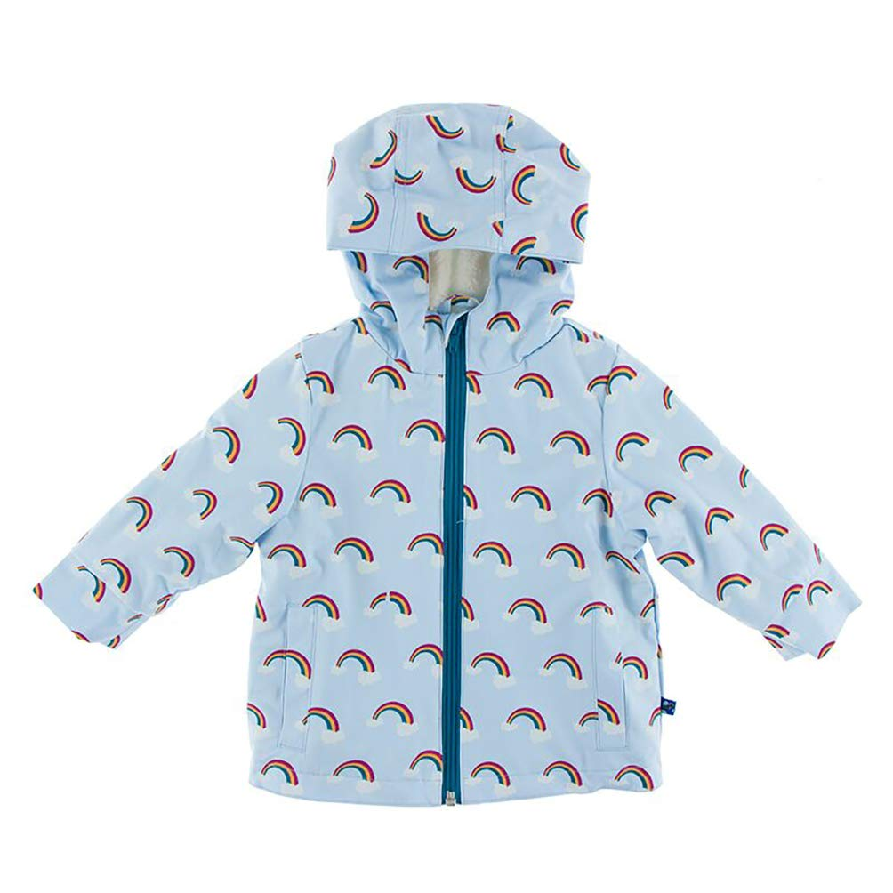 Kickee Pants Little Boys and Girls Print Sherpa-Lined Raincoat - Pond Rainbow, 3T by Kickee Pants