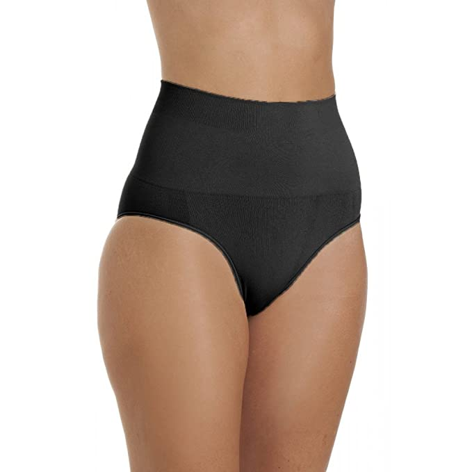 good authorized site outlet store sale Camille Womens Ladies Black Seamfree Shapewear Comfort Control Support  Briefs