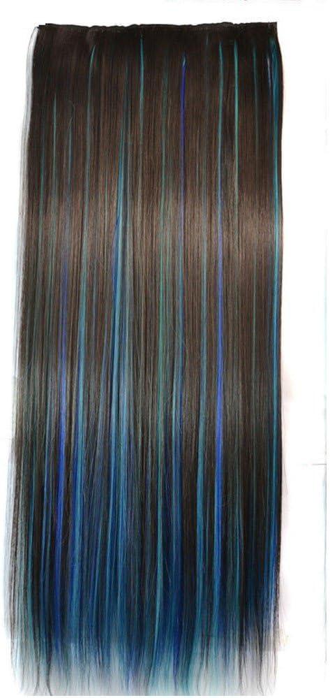 musheng (TM) peluca de color de cabello recta doble color ...