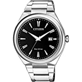 Citizen Men's Eco-Drive Watch Model AW1370-51F Stainless Steel Date 4974374273178 Silver