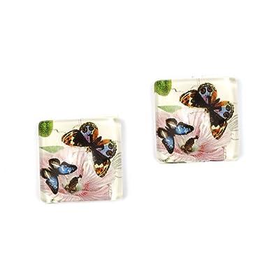 Idin clips para las orejas - mariposa y adorno, impreso en ...