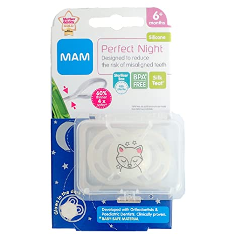 MAM Perfect Night - 1 x Chupete 6m+ (Zorro): Amazon.es: Belleza