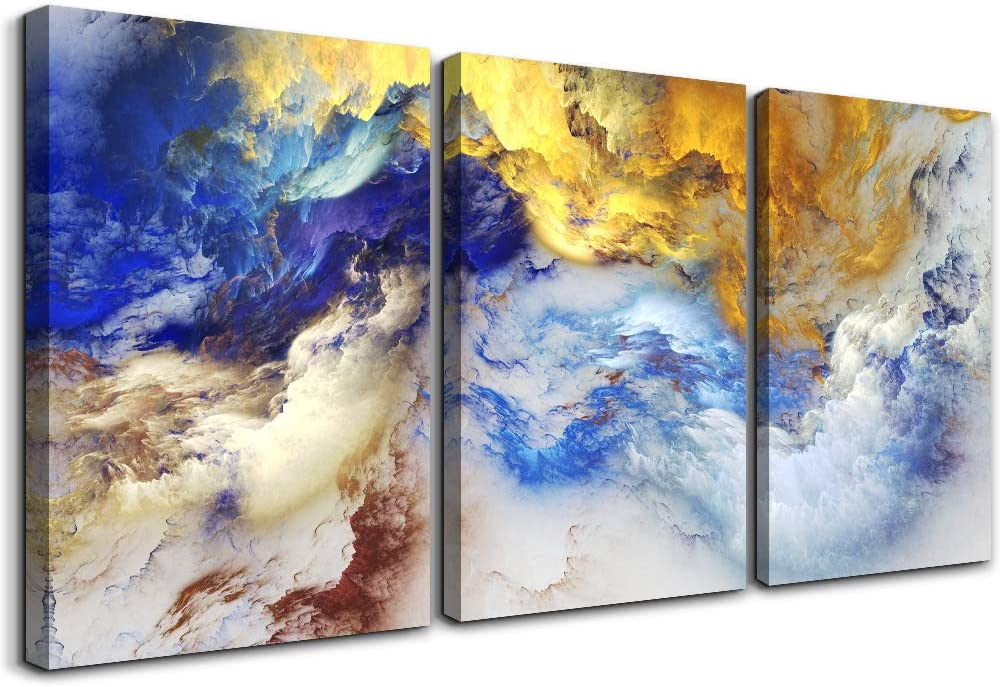 abstract Wall Art for Living Room office Wall Artworks Bedroom Decoration, 3 piece Home bathroom Wall decor Giclee posters abstract Watercolor painting Canvas Prints Pictures modern wall Decorations