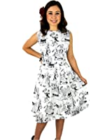 Women's Hemet Day Of The Dead Pleated Dress White