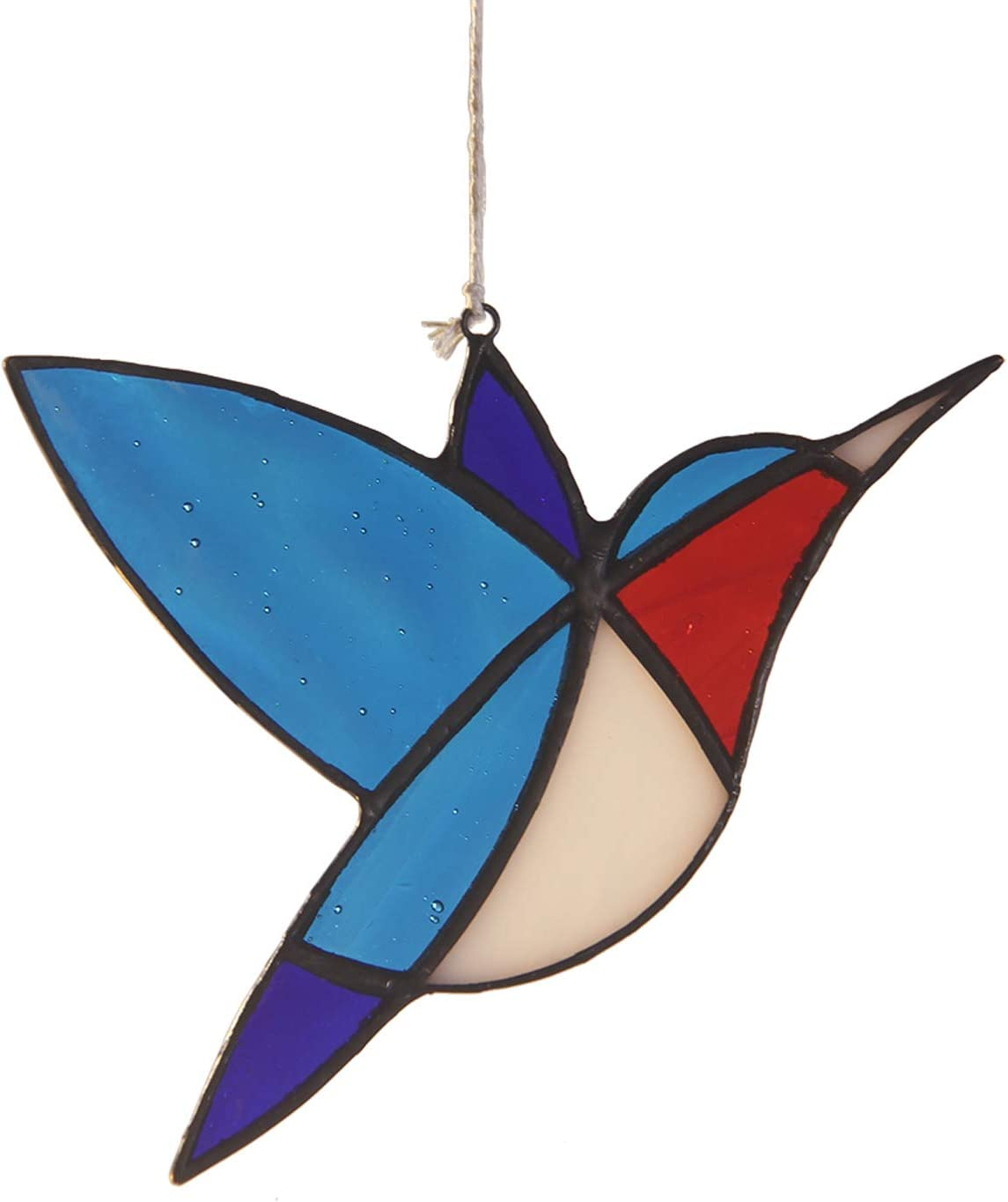 Little Bird Stained Glass Sun Catcher for Window Decoration Outdoor Garden Decor A Lovely Gift for Your Family