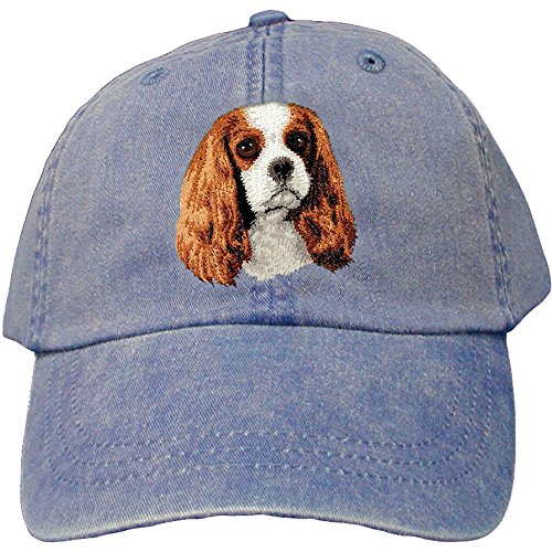 Cherrybrook Dog Breed Embroidered Adams Cotton Twill Caps - Royal Blue - Cavalier King Charles (Cavalier Embroidered Cap)