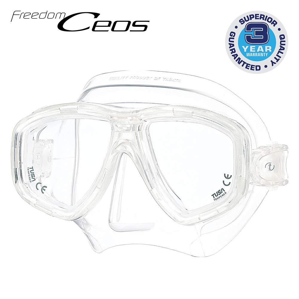 TUSA M-212 Freedom Ceos Scuba Diving Mask, Translucent by TUSA