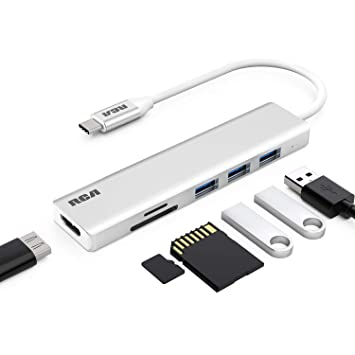 Amazon.com: Hub USB C, adaptador RCA USB C, 4 K USB C a HDMI ...