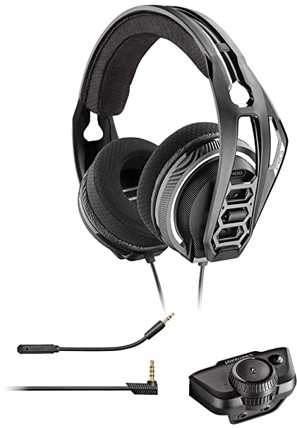 f86c02a2bbe Plantronics RIG 400 Dolby Atmos Universal Gaming Lightweight Durable Headset  with Noise Canceling Microphone, for