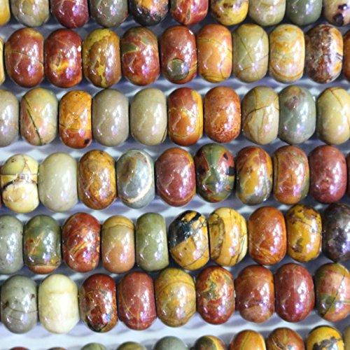Jasper Rondelle Beads - 4