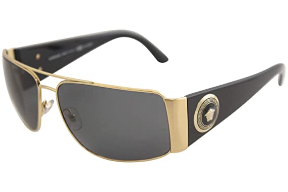 d2139dd79e50 Versace Mens Sunglasses (VE2163) Gold Grey Metal - Polarized - 63mm