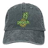 Unisex Washed Retro Denim Hats Adjustable Baseball Cap Psych Pineapple Stylish Dad Hat Stetson Hat