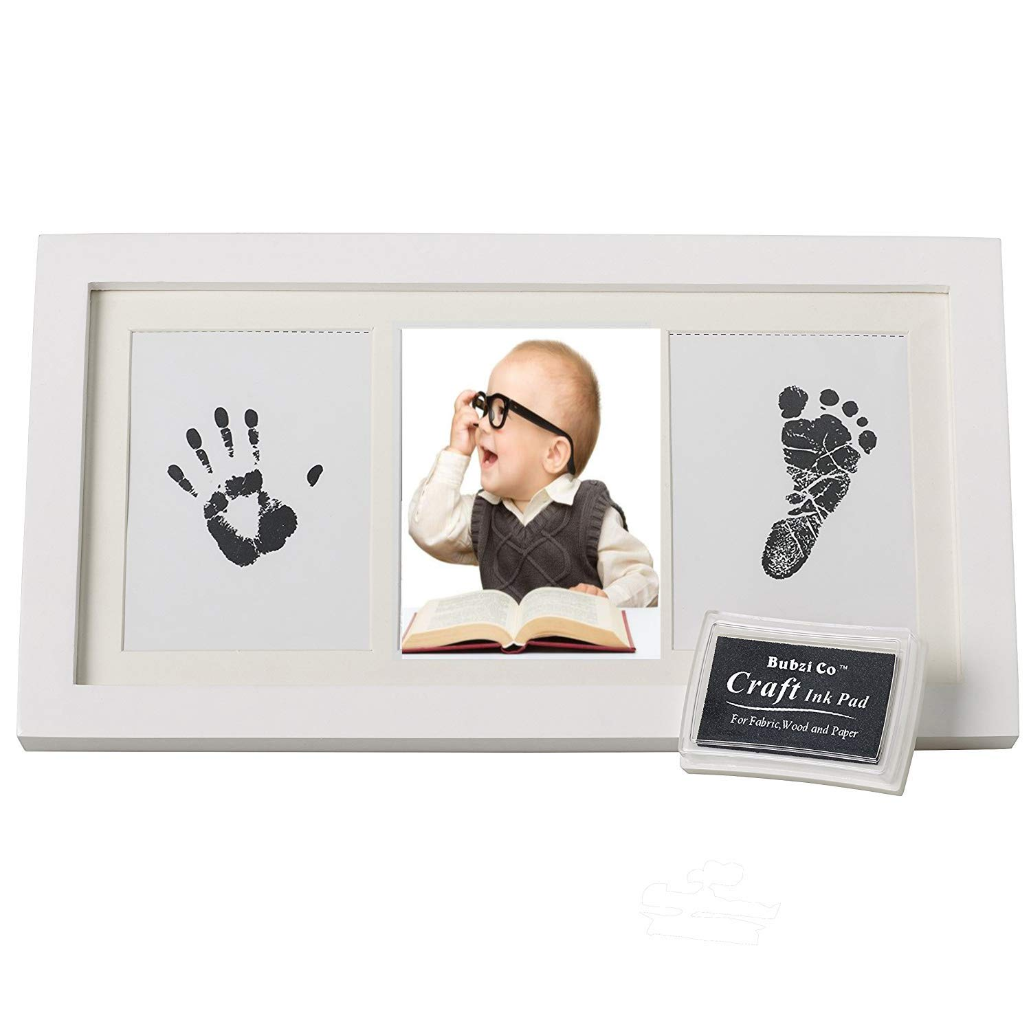 Beautiful Baby Hand and Footprint Photo Frame Kit,Babyprints Paper /& Ink Pad Memorable Keepsakes for Baby Shower Gifts