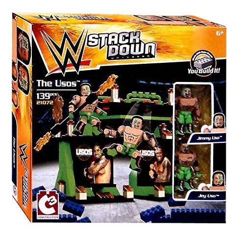 WWE Wrestling C3 Construction StackDown The Usos Playset #21072 by Wrestling