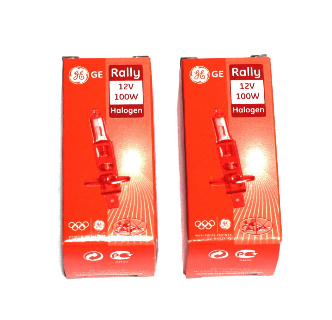 2x General Electric 52140/1 H1 12V 100W P14, 5s Rally OffRoad Auto Lampe Halogen