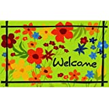 Masterpiece Wildflower Door Mat, 18-Inch by 30-Inch, Green