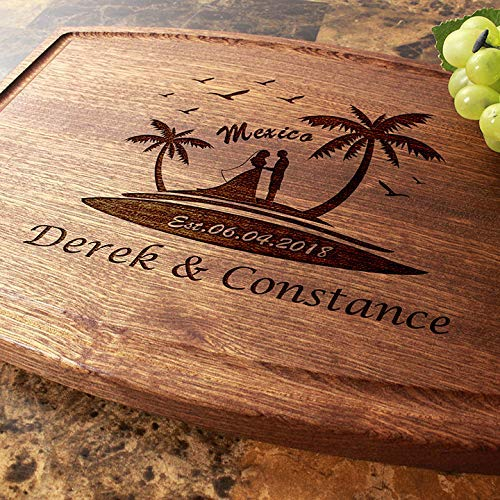 Engagement Custom Keepsake Housewarming Personalized Cutting Board Arched Anniversary Closing Gift #808 Wedding Corporate Birthday Engraved Serving Cheese Plate