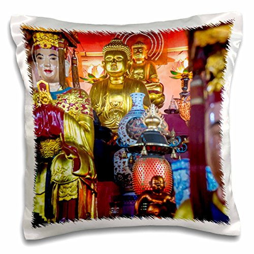 Danita Delimont - Statues - Buddhist altar, in temple, Hanoi, Vietnam - 16x16 inch Pillow Case (pc_226096_1)