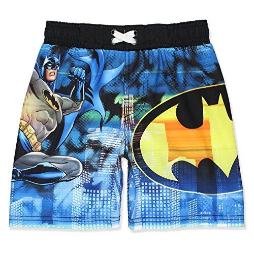 DC Comics Batman Boys Swim Trunks Swimwear (5-6, Blue) (Trunks Children Swim)