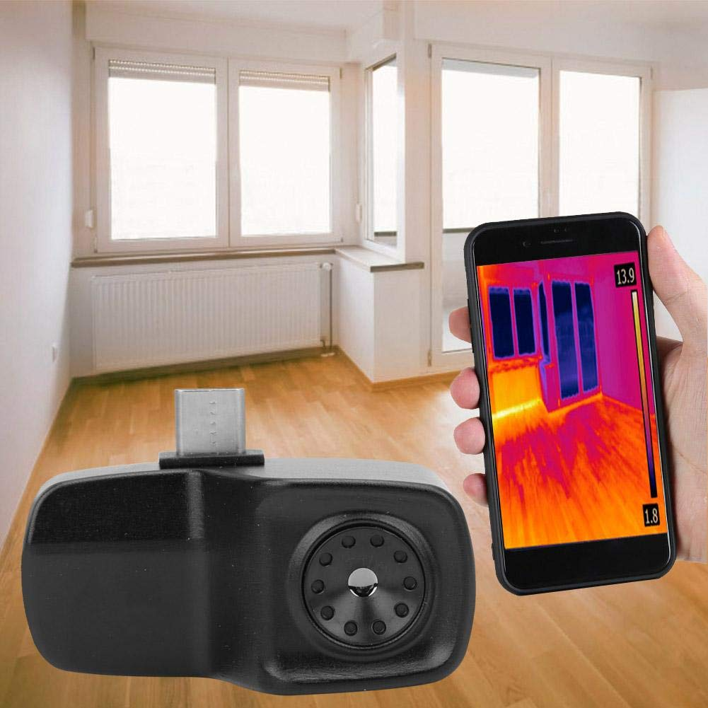 IR Thermal Imaging Camera,HT-201 Mini Mobile Phone Thermal Imaging Camera Thermal Infrared Imager