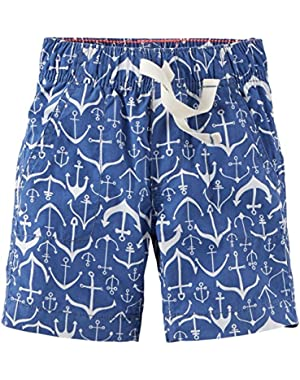Unisex Baby Print Woven Shorts (Baby) - Anchors - 3M