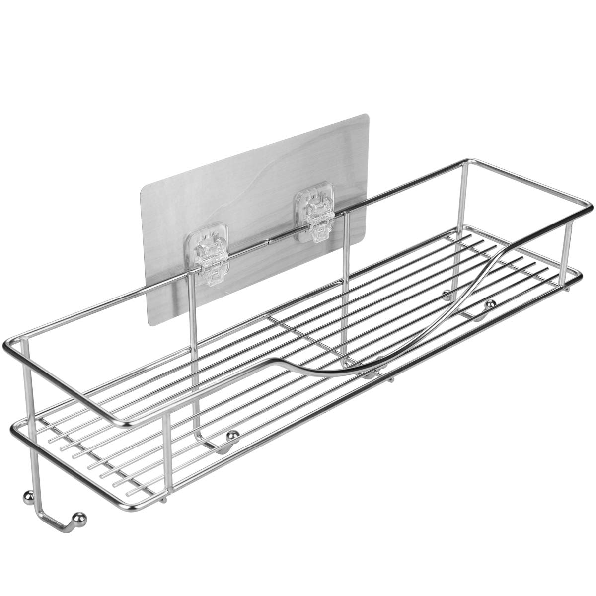 AISHN Bathroom Towel Shelf/Kitchen Holder, 304 Stainless Steel Vacuum Super Silicone Storage Rack, Space-Saving Rack Includes 4 Hooks