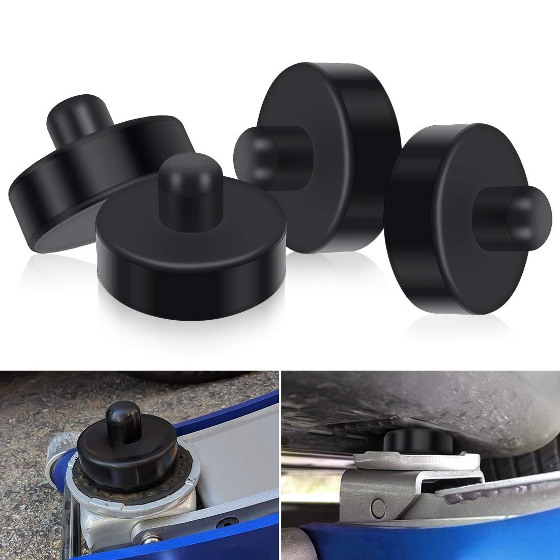 4 Pack Protects Car Jack from Damaging Tesla Battery QUNSUN Car Jack Lift Pad Adapter Tool Rubber Jack Pads Fits Tesla Model 3 for Safely Raising Vehicle