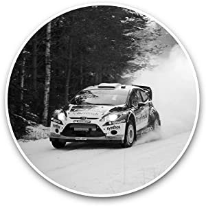 Vinyl Stickers (Set of 2) 15cm Black & White - WRC Rally Car Sport Racing Snow Laptop Luggage Tablet #37497