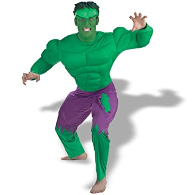 adult incredible hulk deluxe muscle costume xl42 46