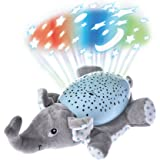 Musical Projector, Luerme Projection Night Light Plush Animal Musical Toy with 62 Soothing Songs and Beautiful Light (Elephant)