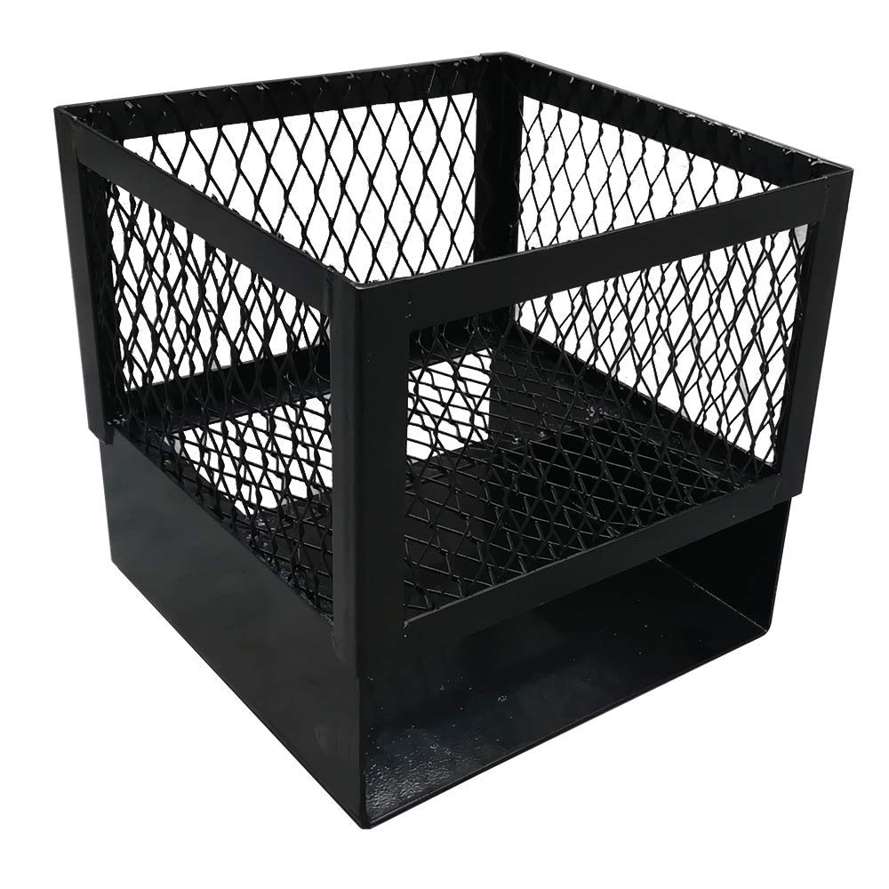 Charcoal Basket for Drum Smoker with Legs and Coal ash pan BBQ (12''X12''X12'') by Unknown