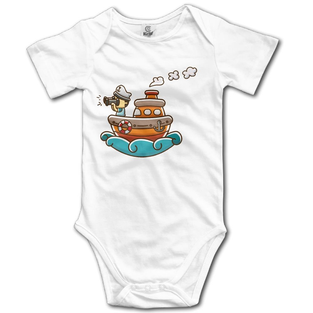 Midbeauty Steamship Sailor Newborn Baby Sleeveless Jumpsuit Romper