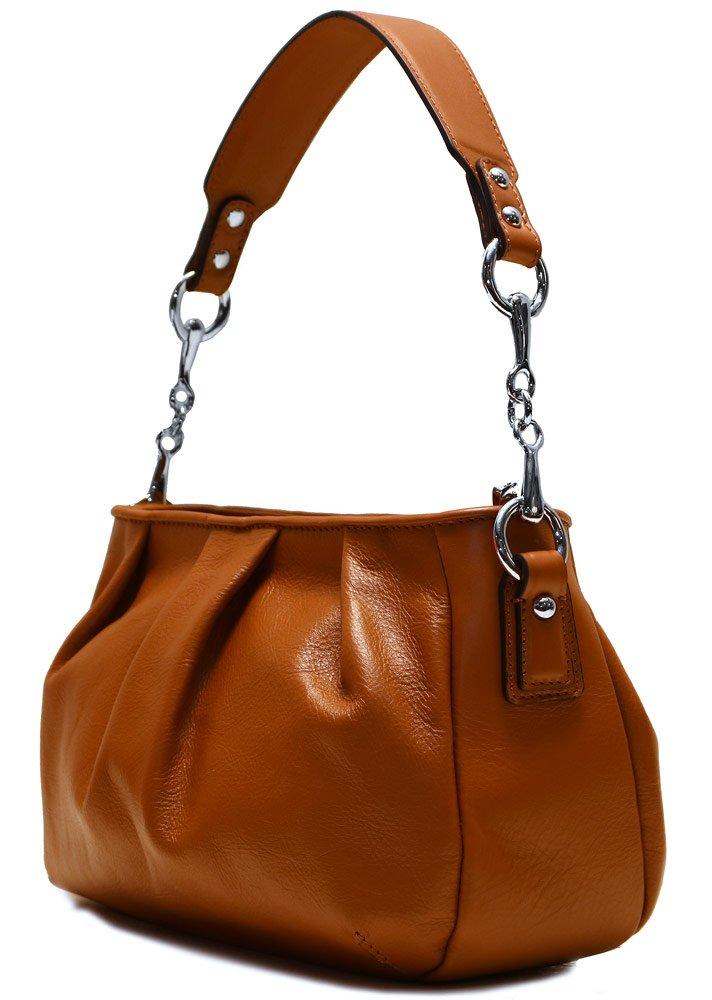 Floto Firenze Hobo Shoulder Handbag in Soft Brown Calfskin Leather