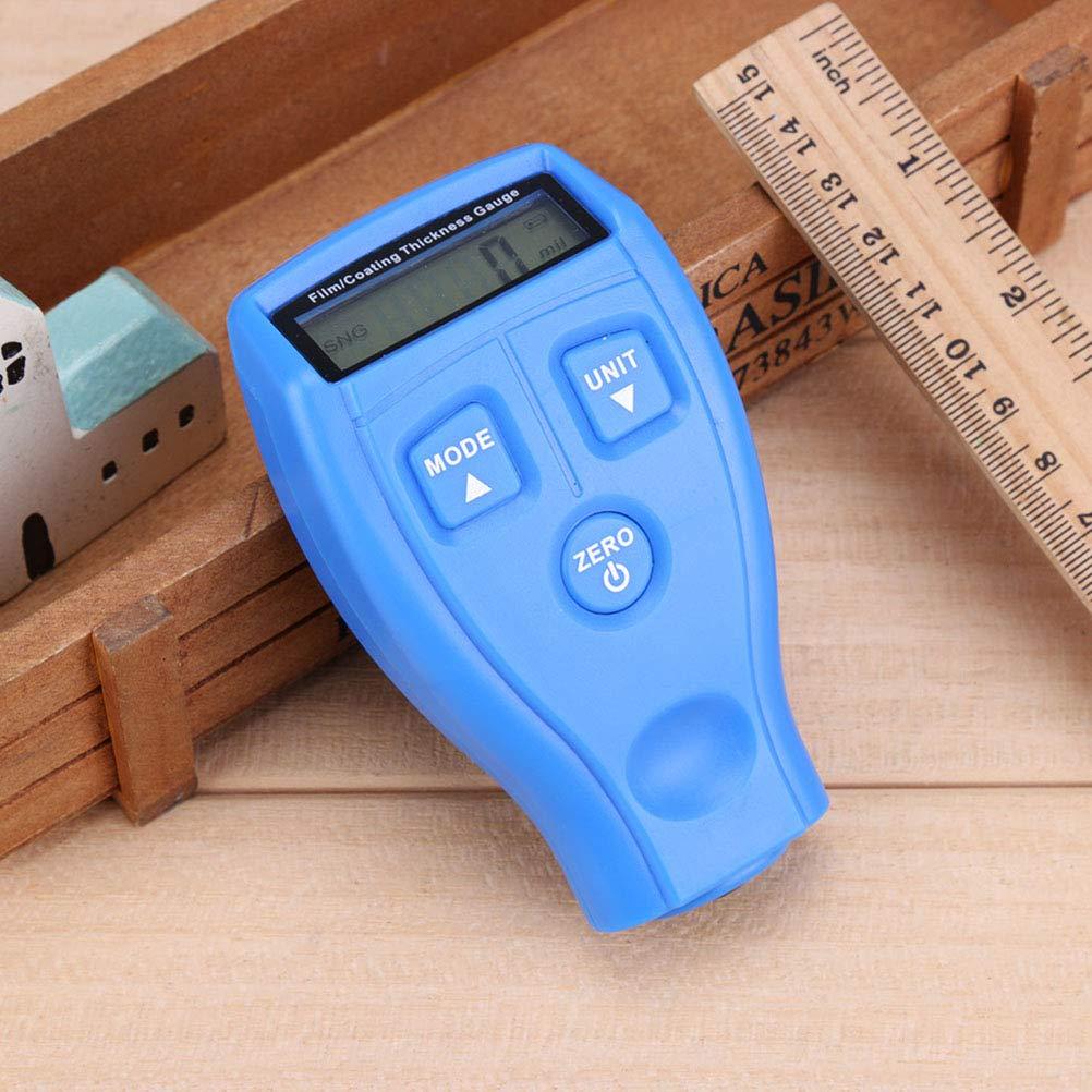 Azul Yardwe Medidor de Espesor GM200 Recubrimiento de Pintura Probador de pel/ícula ultras/ónica Mini m/áquina de Pintura de Revestimiento de Coche sin bater/ía