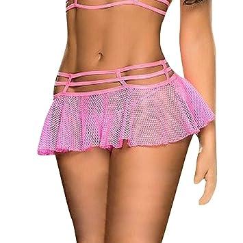 Falda sexy para mujer, lencería, con ropa interior, minifalda ...