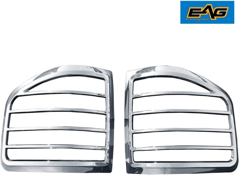 EAG Tail Light Bezels Triple Chrome Plated ABS Fit for 04-08 F-150