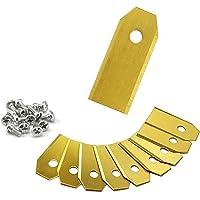 ONVAYA® XXL Cuchilla de repuesto para cortacésped robótico | 9x Hoja de titanio | 43 mm de largo | 0,75 mm | Repuestos…