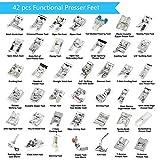 43 pcs Presser Feet Set with Manual & Adapter