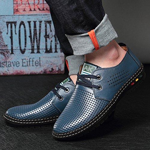 para transpirables de Zapatillas Fashion formales hombre Jacky's de deporte Azul piel 8aIFwaqpx