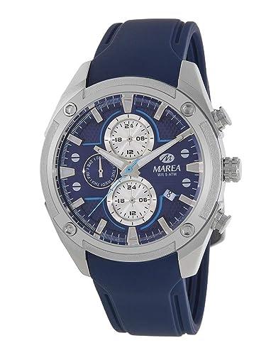 Reloj Marea Analógico Multifunción Hombre B54156/2 con Calendario, Correa de Silicona Azul y Esfera Azul: Amazon.es: Relojes