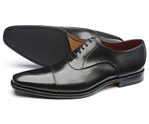 2ca3602d997c Loake Mens Snyder Black Leather Oxford Lace-Up Formal Shoes  Amazon ...
