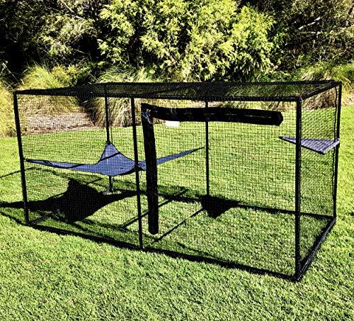 """La Luna Pet Care Cat Enclosure   Cat Enclosure   Outdoor Cat Enclosure   Cat Play Pen   Indoor Outdoor Cat Tent   47.2"""" x 47.2"""" x 94.4"""""""