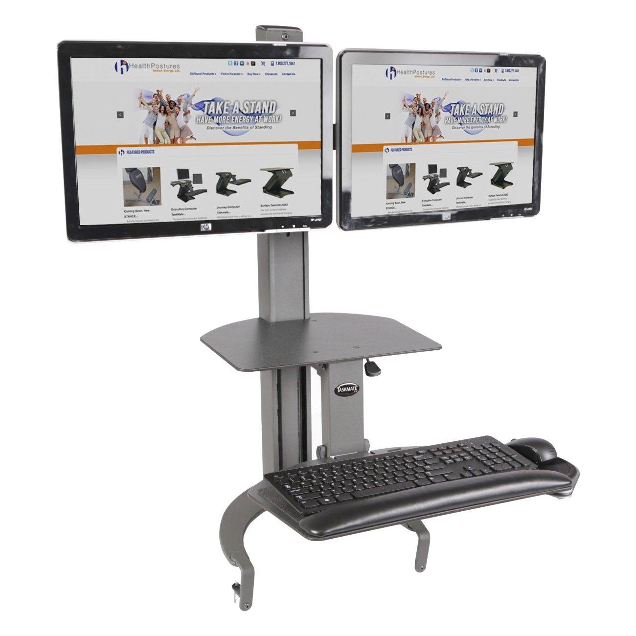 Amazoncom HealthPostures TaskMate Go Dual 6350 Adjustable