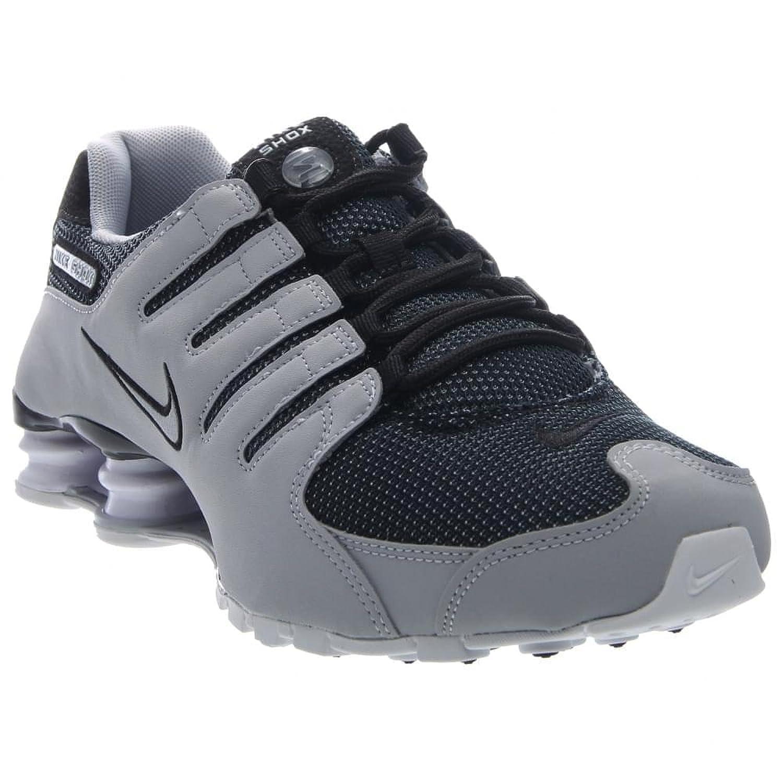 2b08de35b6b924 best authentic Nike Men Shox NZ SE Running Shoes Black White Cheap Wholesale