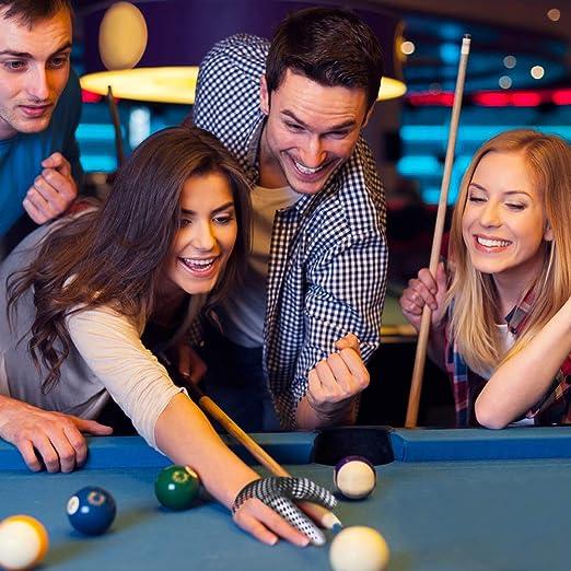 MHOYI Guantes de Billar, Pool Tiradores de 3 Dedos Snooker de Taco de Billar Accesorios de Billar, Mano Izquierda/Derecha Universal (1 Palo): Amazon.es: Deportes y aire libre