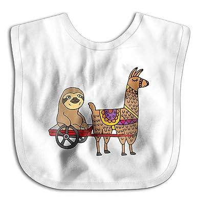 Amazon.com: Llama Casual baberos para bebé, diseño con texto ...