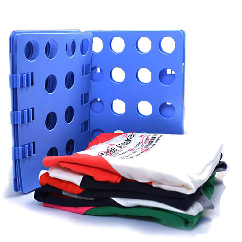 Clothes Fold for Adult, Dress Pants Towels T-Shirt Folder/Laundry Folder Board Organizer/Fast Folding Board, Blue Xsorter
