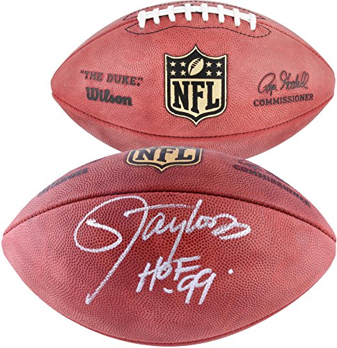 Taylor Autographed Football Lawrence - Lawrence Taylor New York Giants Autographed Duke Pro Football with HOF 99 Inscription - Fanatics Authentic Certified