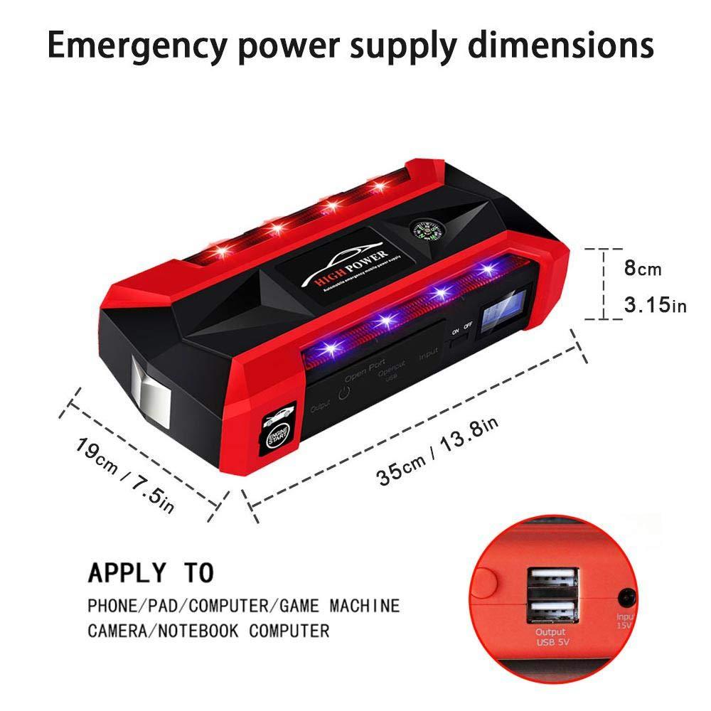 Kit di avviamento Portatile Multifunzione 20000 mAh Camion furgoni avviatore di Emergenza per Auto Power Bank di Emergenza per Auto SUV 12 V Batteria per Auto Hamkaw