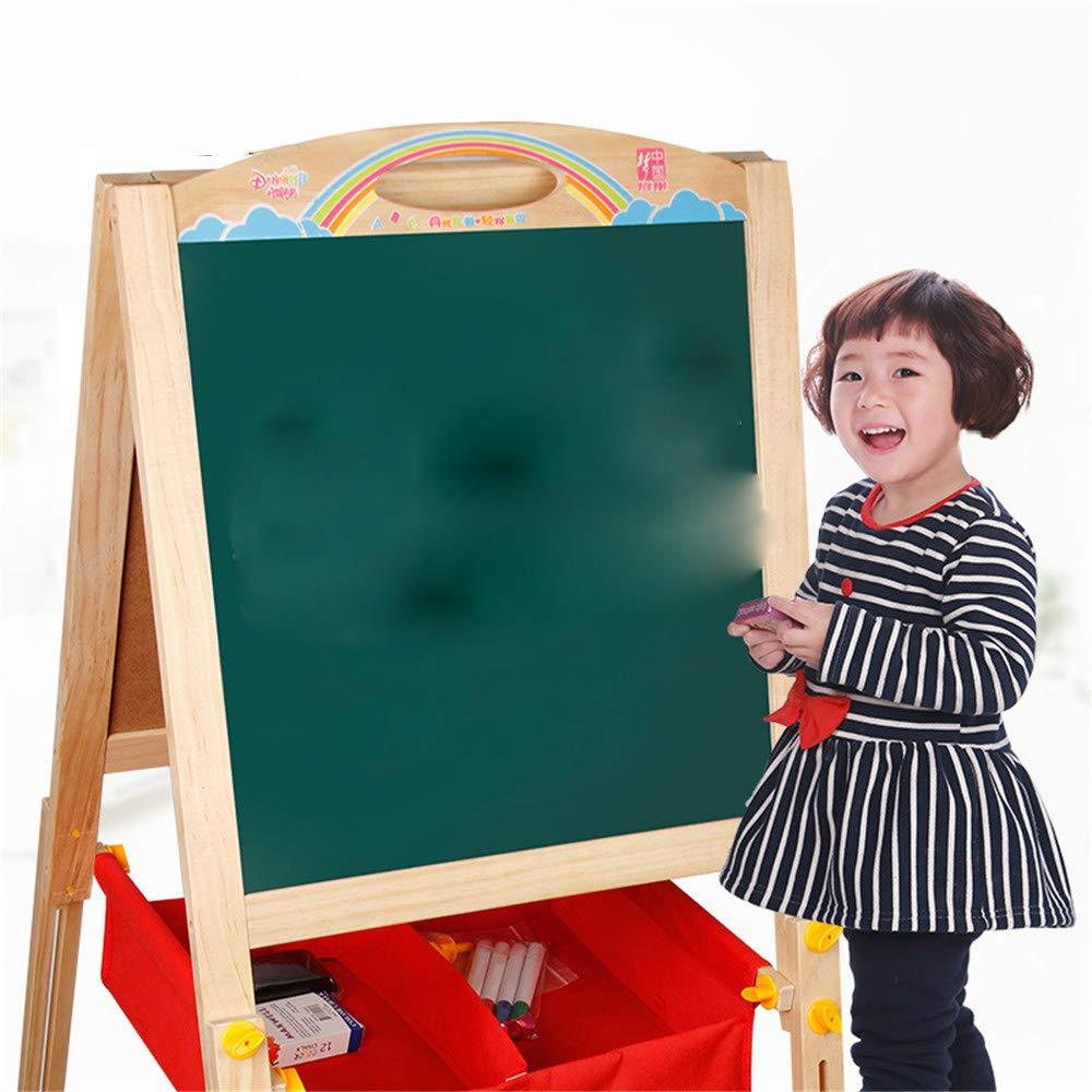 ChenYongPing Tavolo da Disegno per Bambini Bambino 2 in 1 Bambini in Legno Lavagna in Legno Piedino di APPRENDIMENTO + DISP Cavalletto in Legno a Doppia Faccia